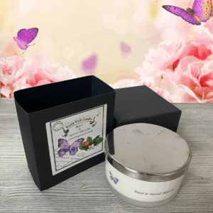 basil and neroli blossom 3 wick candle and box