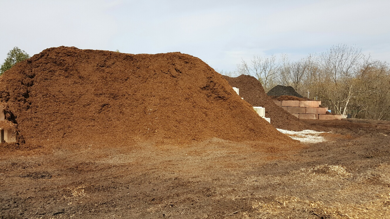Brown Mulch Bin