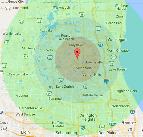 Zone Delivery Map