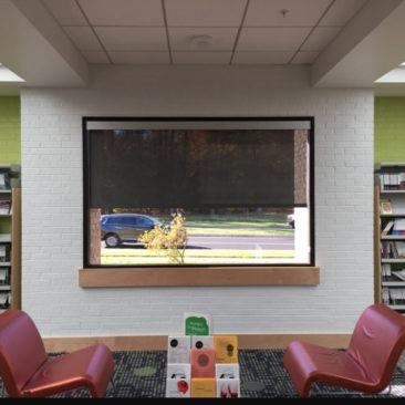 roller shades for Howard County Library Savage Branch