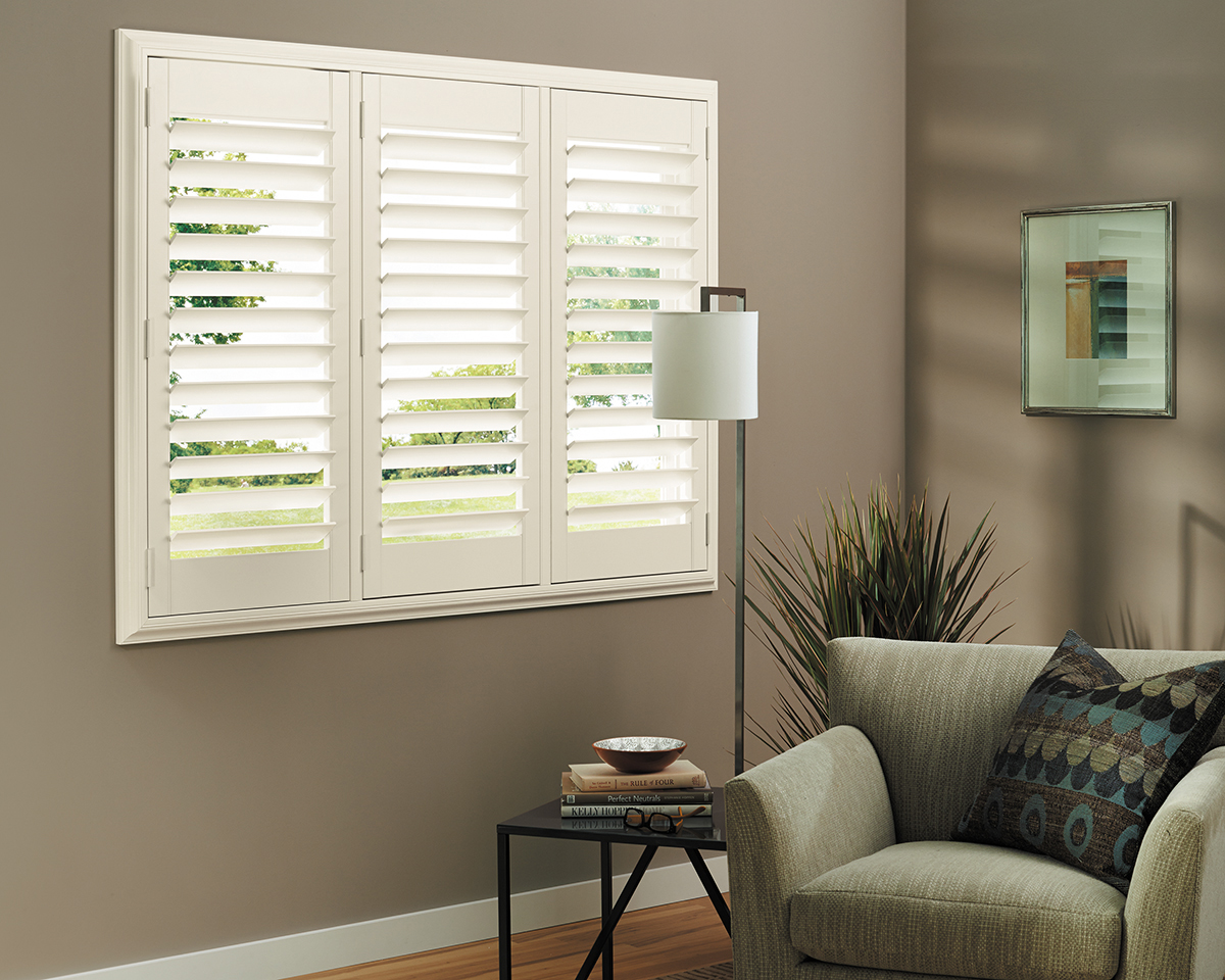 White Louver Custom Plantation Shutters