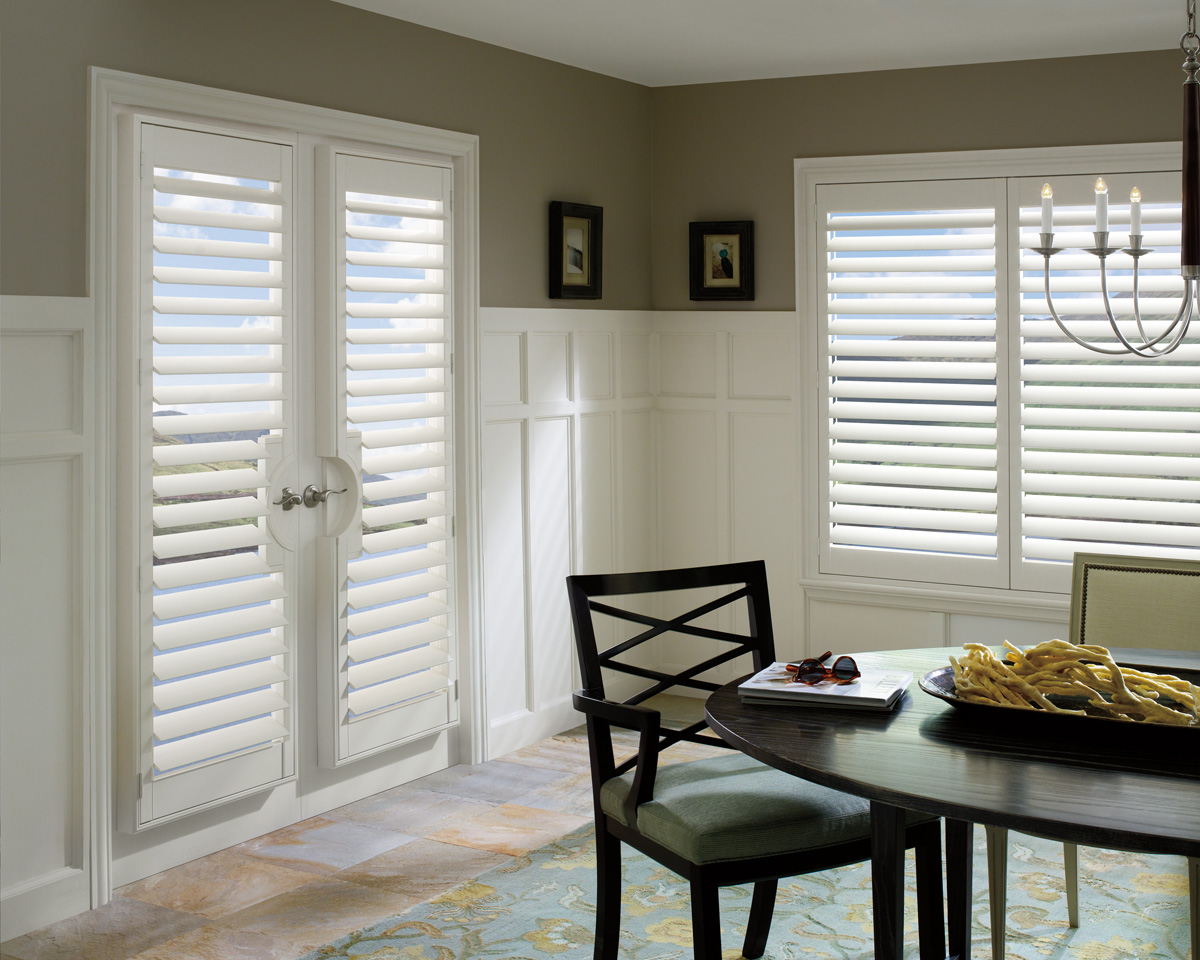 Custom Plantation Shutters for French Doors