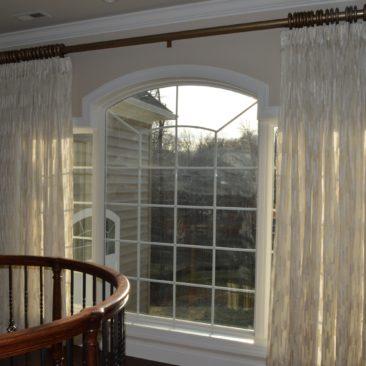 Sheer Window Curtain Drapery Panels for Arch Window