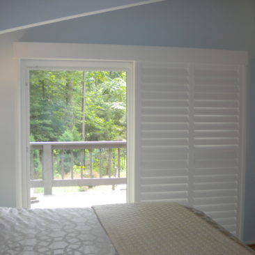 photo Plantation Shutters on Sliding Glass Door