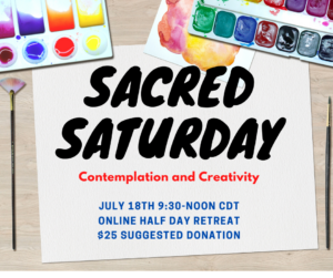 Sacred Saturday: Contemplation and Creativity @ Online Event