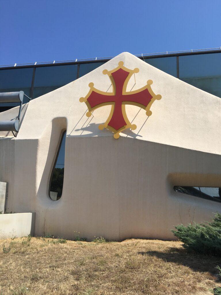 Templar symbol at regional airport in Montpellier