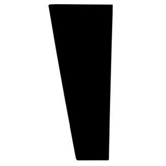 black modern riser leg