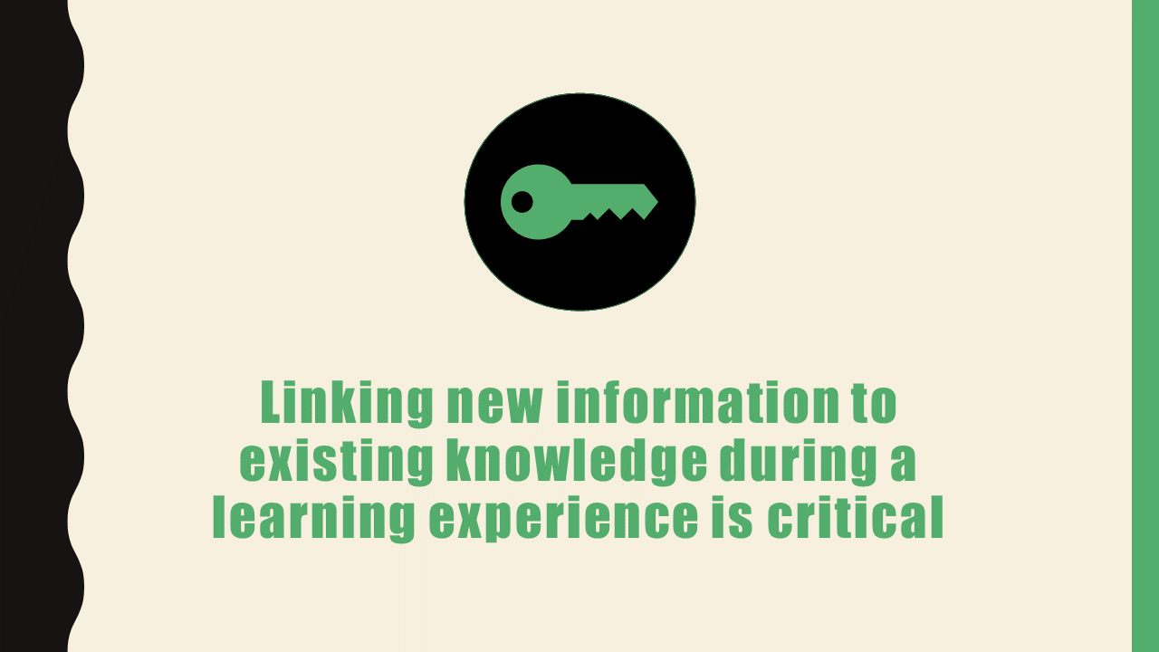 The Weakest Link: Failing to Link New Information to Existing Knowledge During Learning