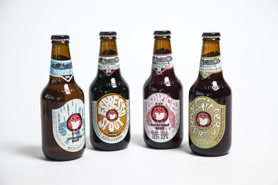 Hitachino beers - espresso, white ale, red rice, ginger