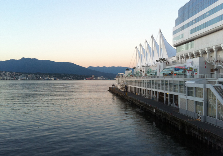 Waterfront view at Miku in Vancouver