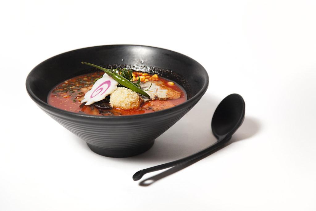 Spicy Garlic Miso Ramen Dashi Flavour Nomiya Japan