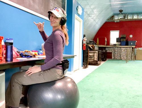 Autumn Manka of Steady Dog Training's new Training space at Deepwood Vet Clinic.