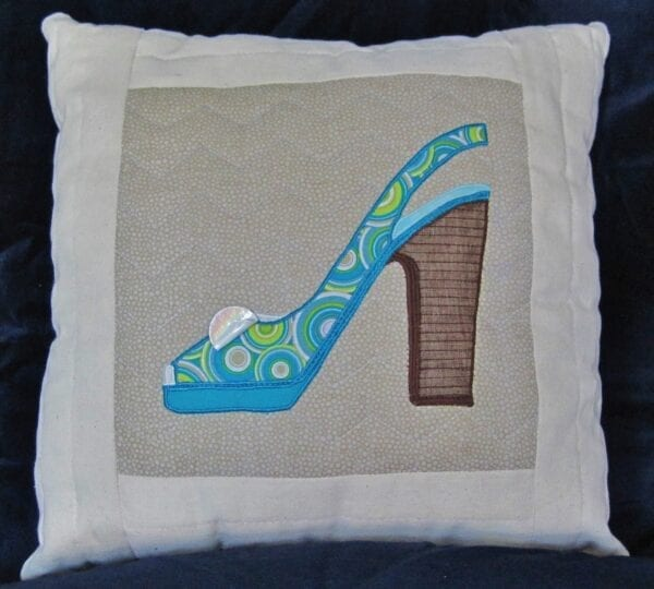 Diva Collection Shoes Decorative Tapestry Pillow