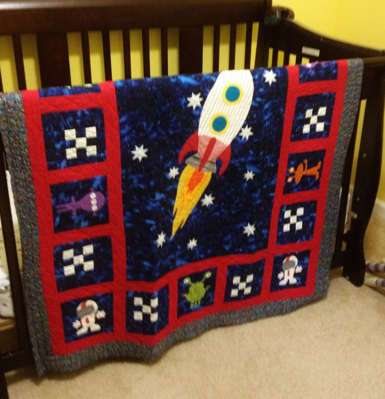 outer space theme quilt