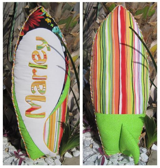 surfboard pillow pattern