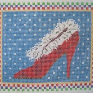 santa baby needlepoint shoe canvas