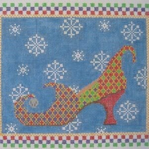 elfie needlepoint shoe canvas