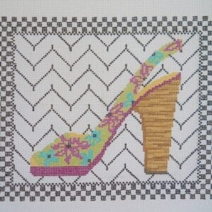 fashionista needlepoint shoe canvas