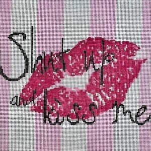 shut up and kiss me canvas
