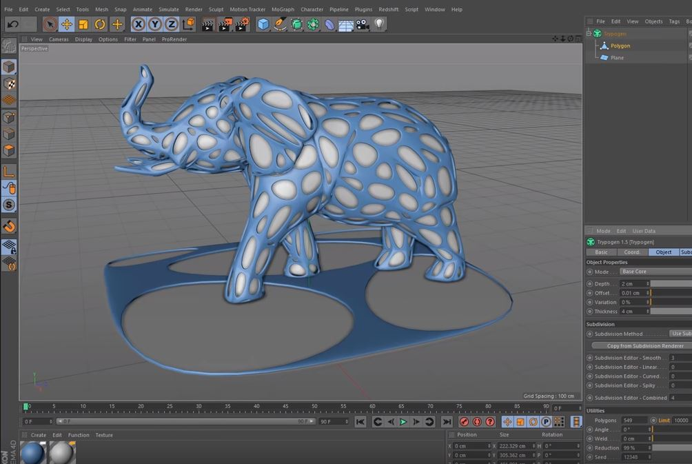 Trypogen 1.5 Generator Plugin For Cinema 4D by Merk