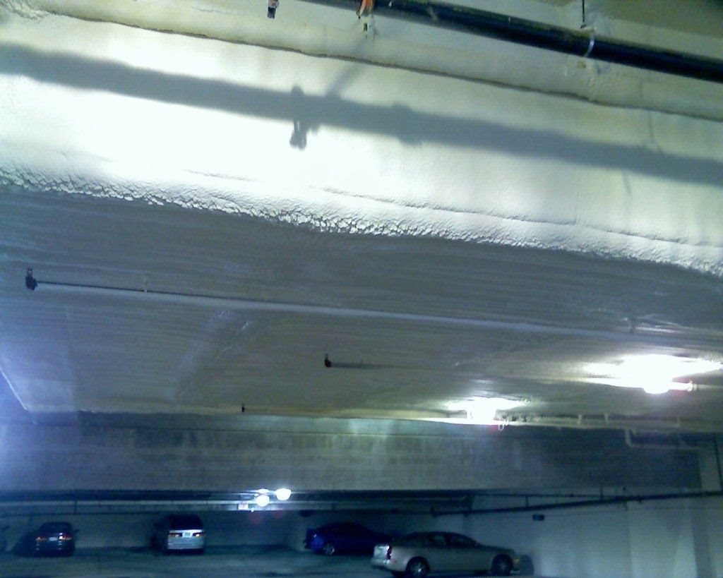 Garage ceiling under swimming pool