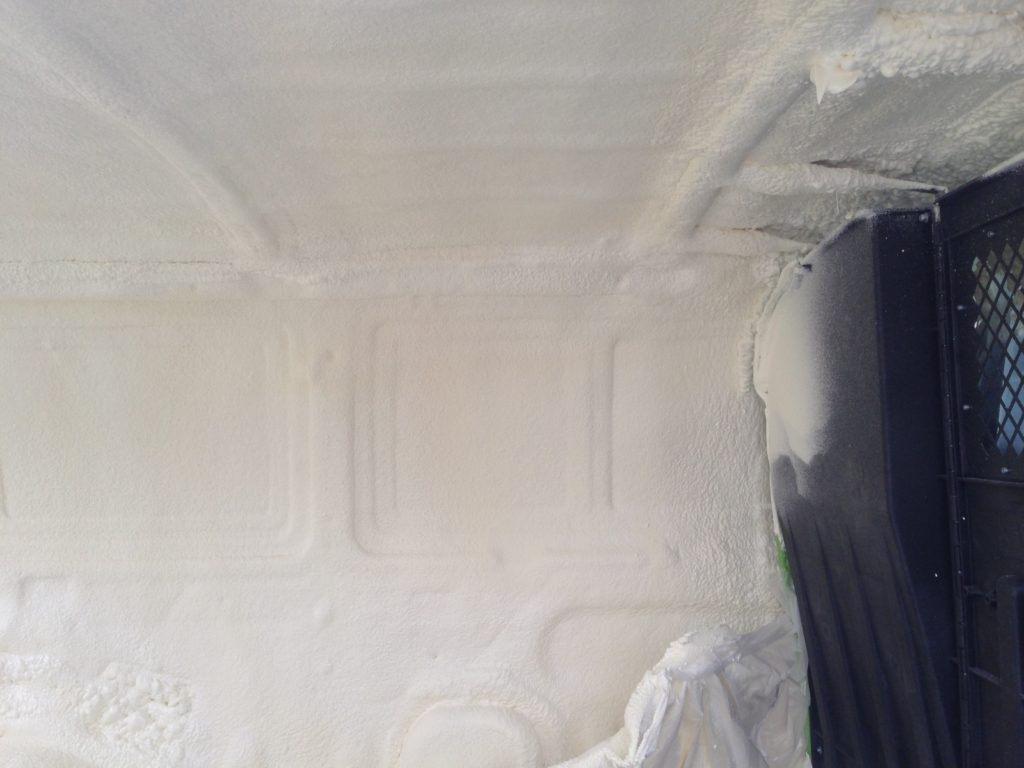 Foam insulated work van