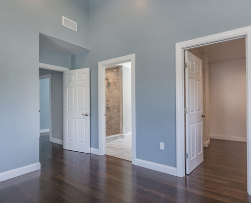 View from bedroom overlooking the master bath and spacious closet area