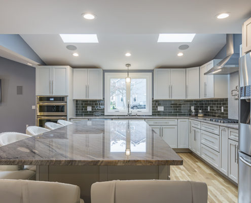 Custom Kitchen with Hardwood Floors and Granite Countertops