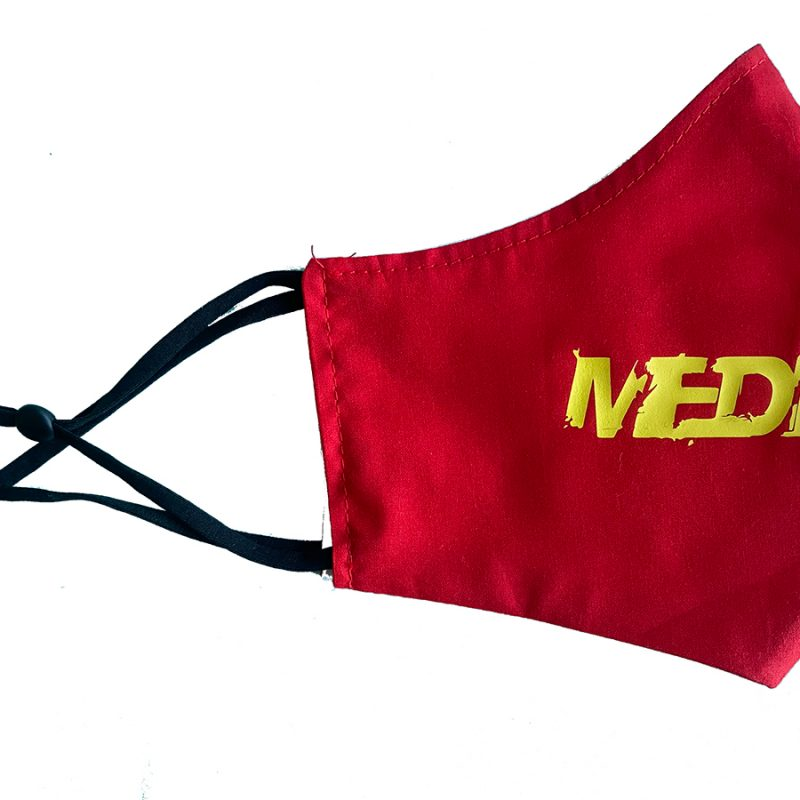 Red Media Made Mask