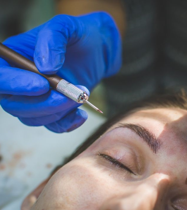microblading hair stroke manual permanent make up technique