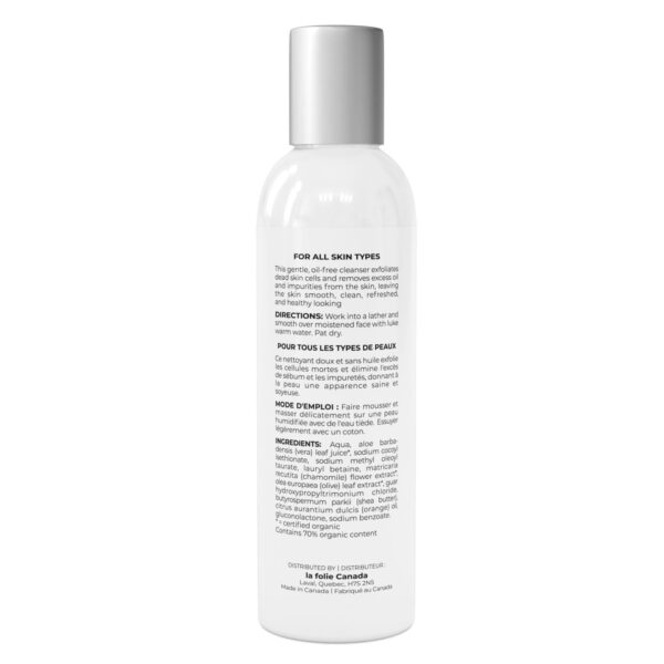 aloe vera cleasing gel for cleaning face from oil and dirt ingredient list