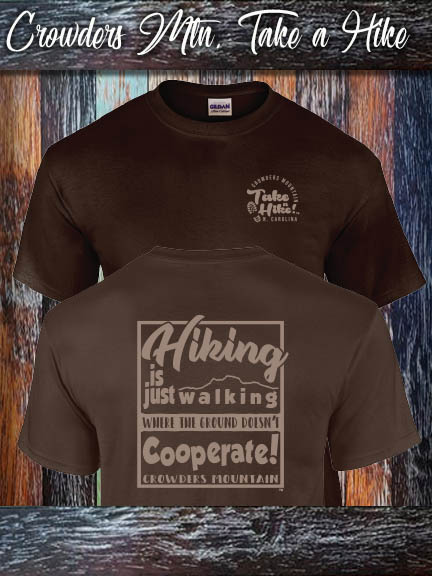 Crowders Mountain Take a Hike shirt available in Mens Alternative Apparel and Ladies Bella