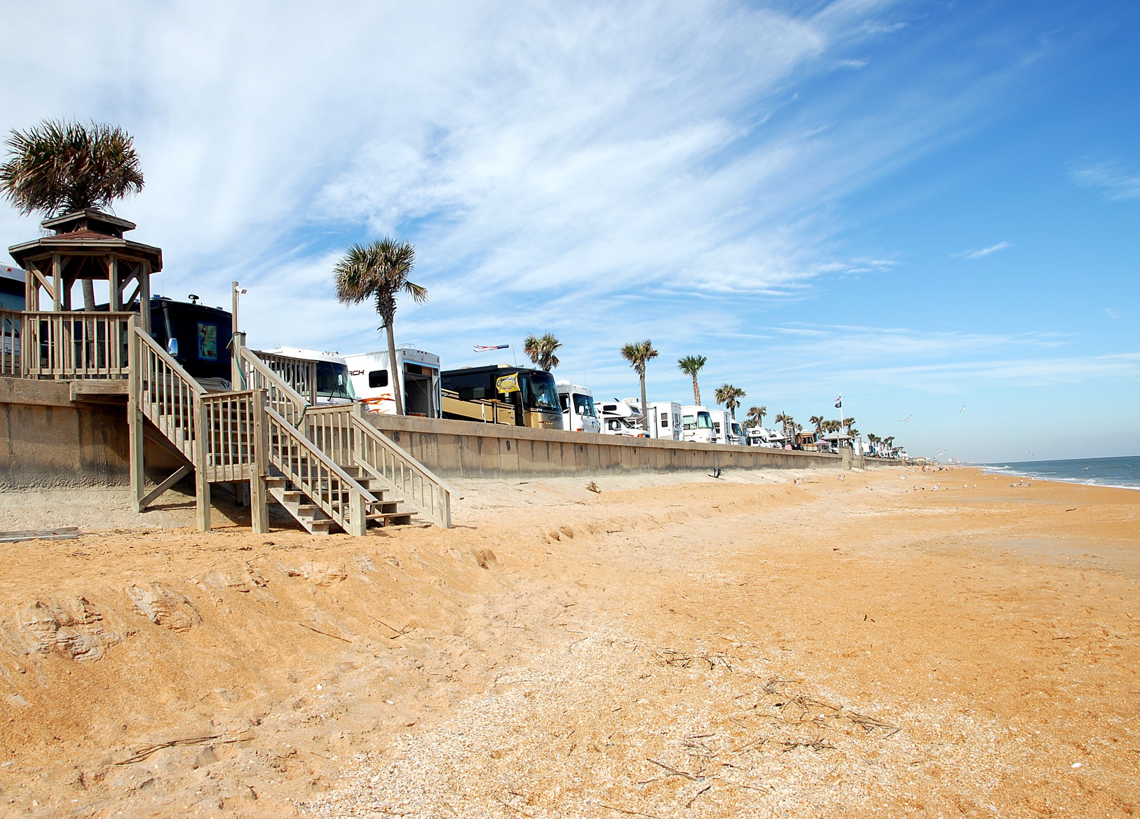 rv camping on the beach florida