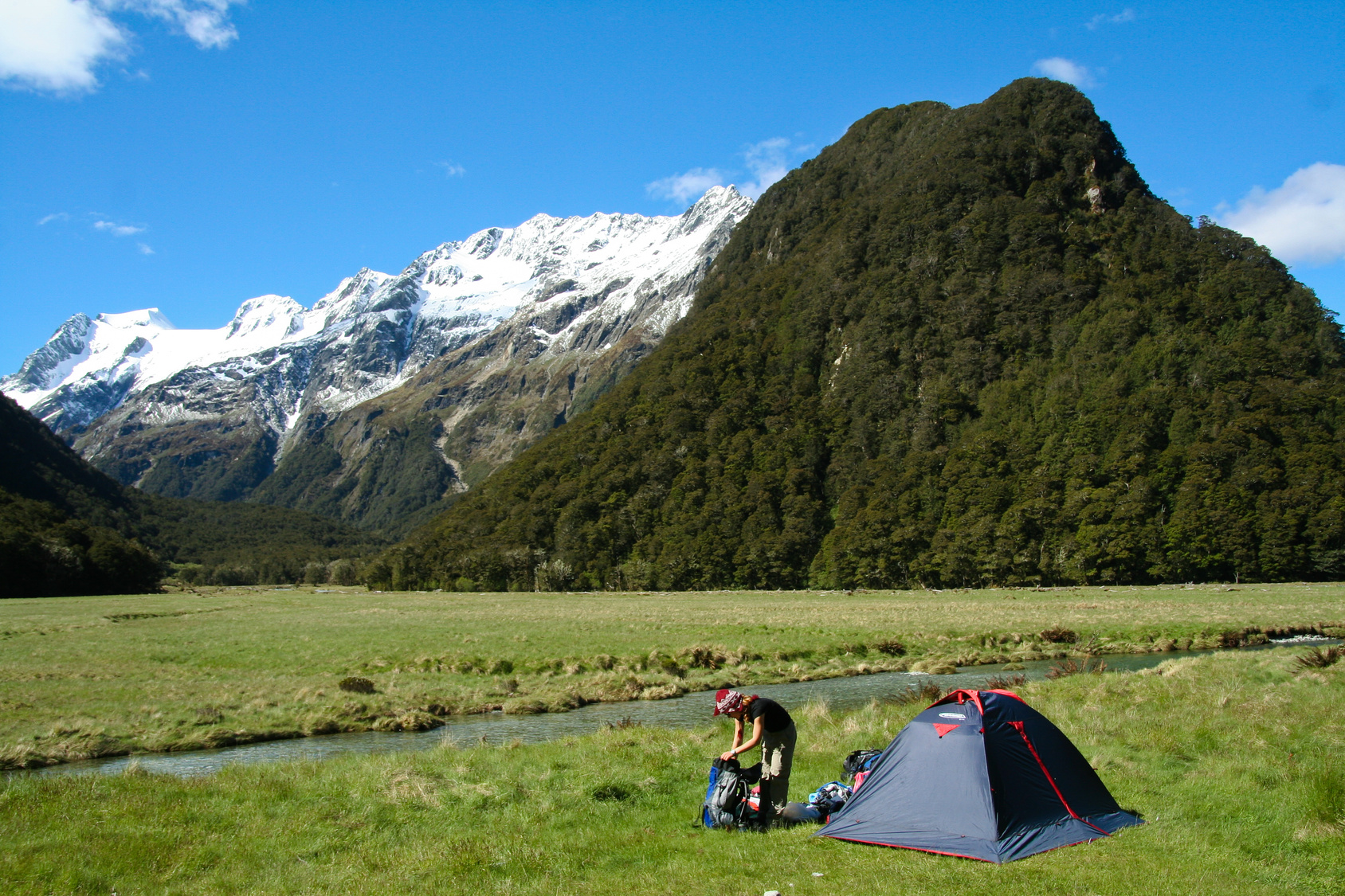 Camping on the Routeburn track