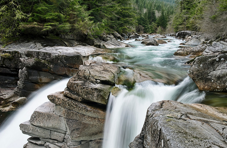 Gold Creek Falls within Golden Ears Park