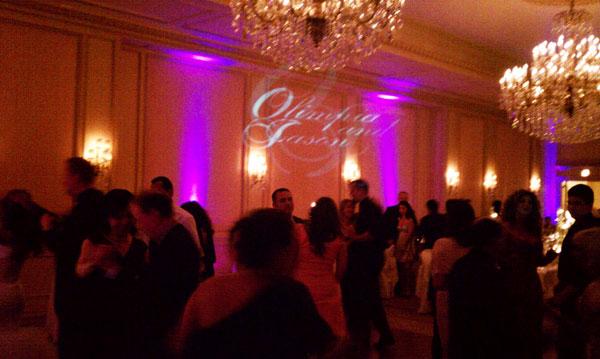 Westgate-Hotel-Wedding-reception-uplights-monogram