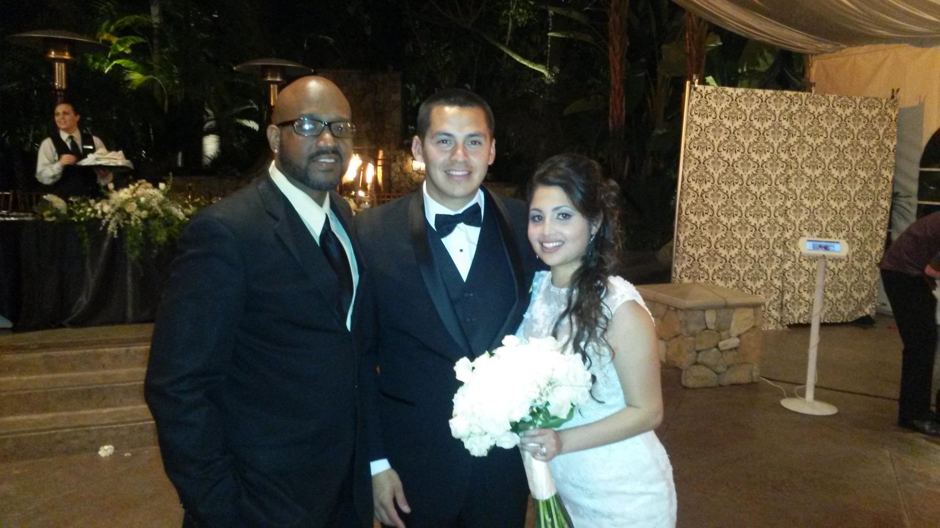 San Diego Wedding DJ Earl Henry with the very happy couple!
