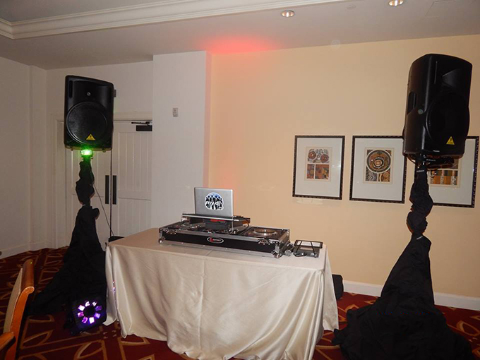 MY DJs Wedding Reception Set up