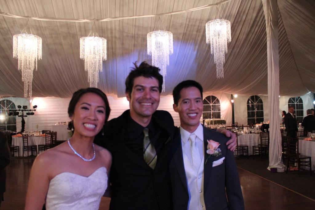 DJ Josh with Bride and Groom