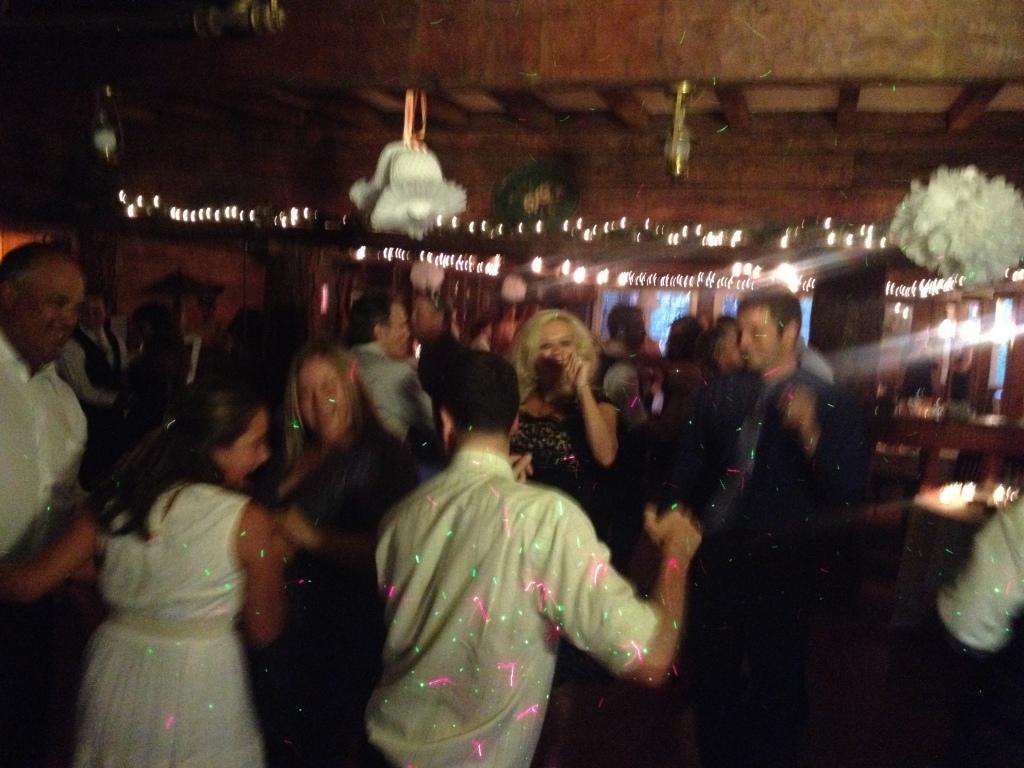 MY DJs Dance Floor at Pine Hills Lodge Wedding