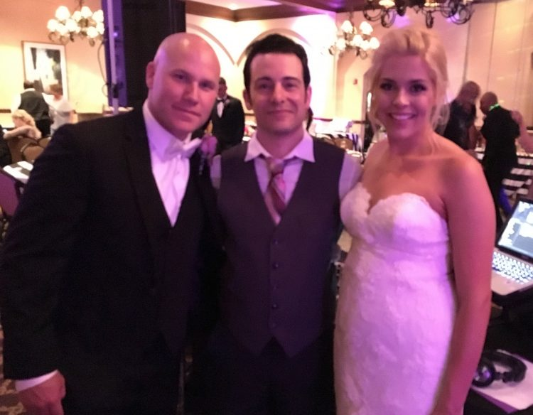 DJ Danny with the Bride and Groom