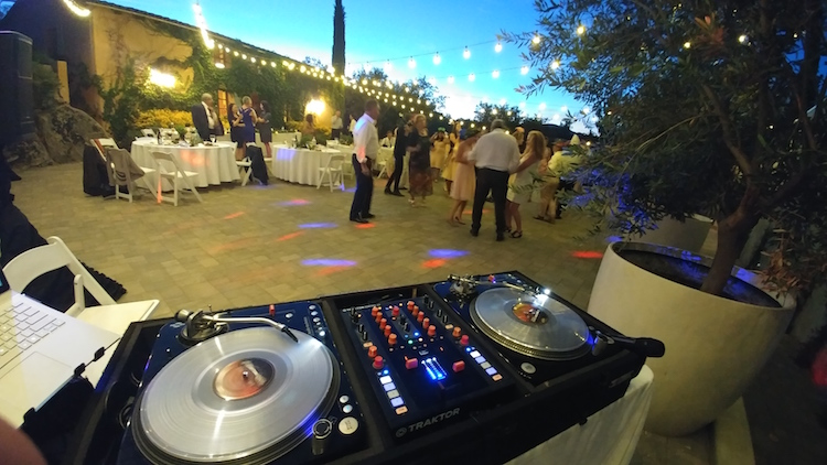 dj setup temecula wedding