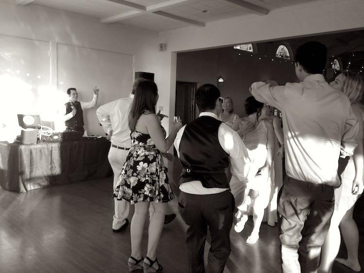 Dj dance party wedding