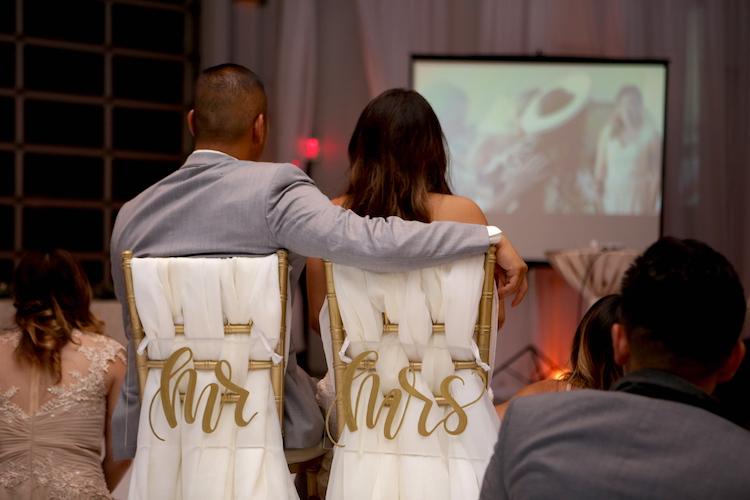 wedding projector slide show