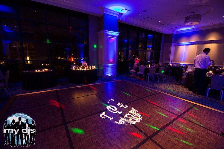 party lights wedding dj