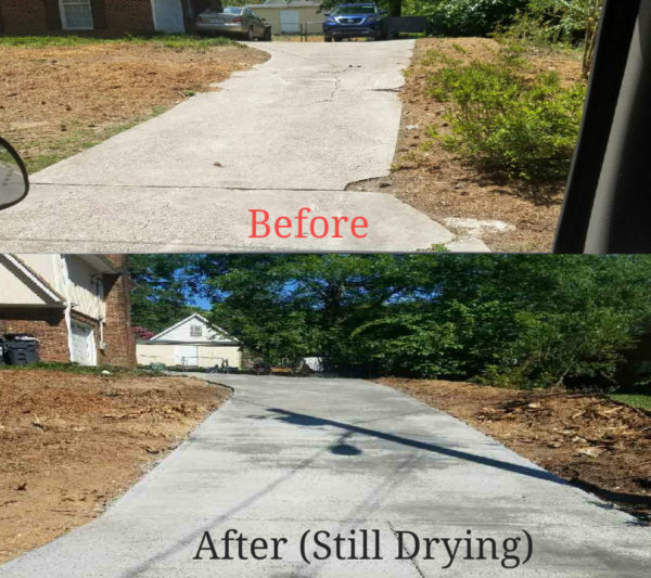 Driveway replacement in Apex NC before and after