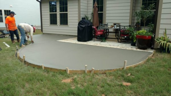 New Concrete Patio