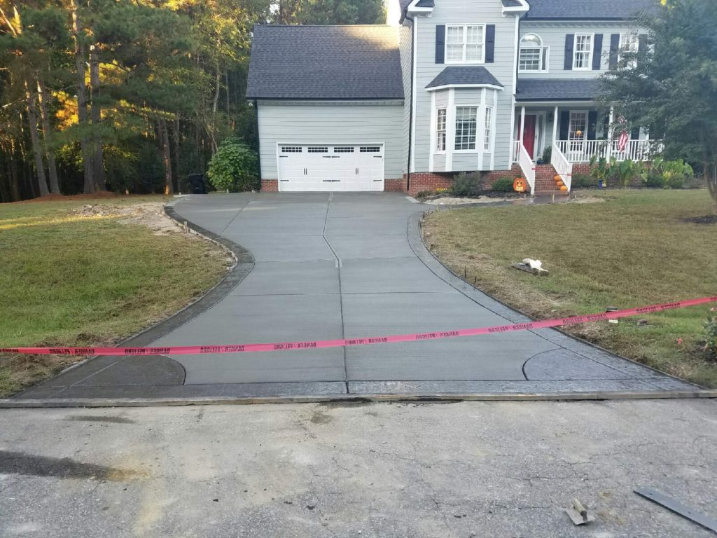 Drivewway installation completed