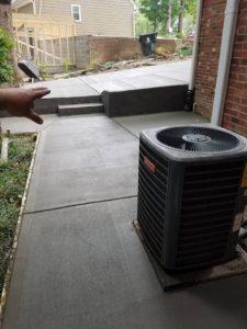rear concrete patio