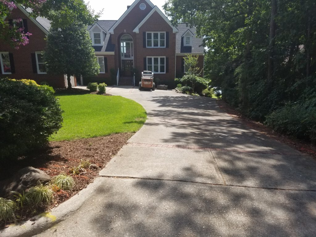 Before driveway replacement